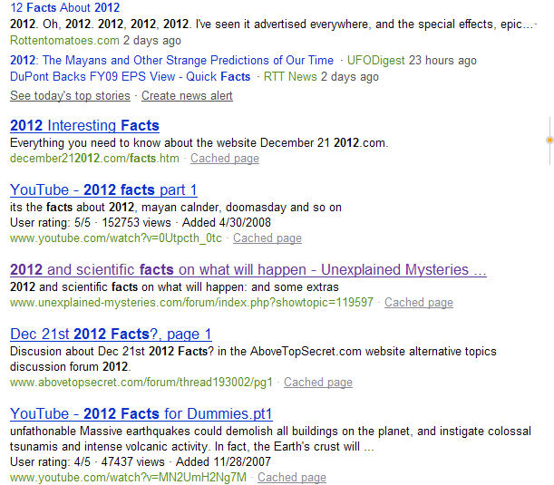 2012 Facts Bing Results