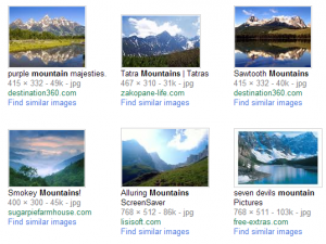 Google's Old Image Search Results Page