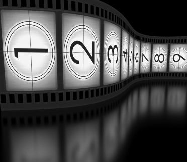 Video filmstrip in black and white for optimizing video for the web
