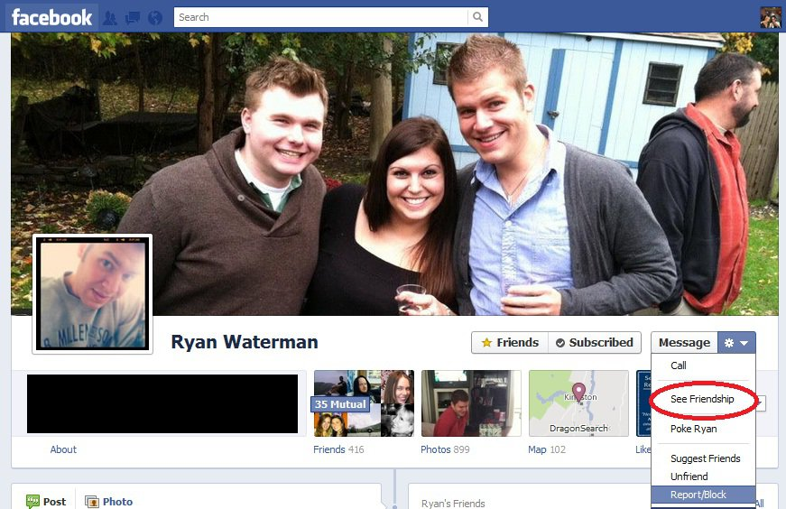 How to see friendship on Facebook timeline