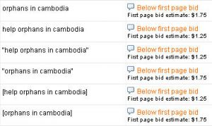 Keywords that are too expensive to bid on if in google grants
