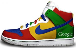 Custom Google sneakers