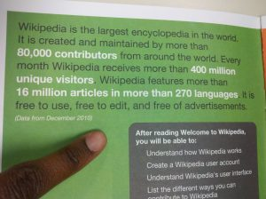 printed Wikipedia editing guide intro