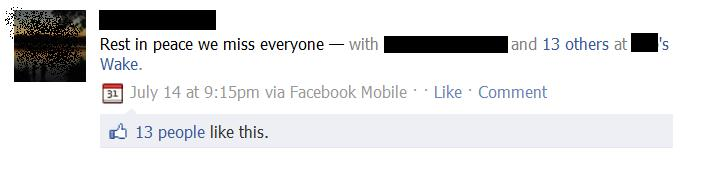 facebook places funeral check-in