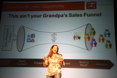Kristy Bolsinger talking about how the sales funnel changed