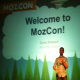 Rand Fishkin opening up the MozCon Seminar