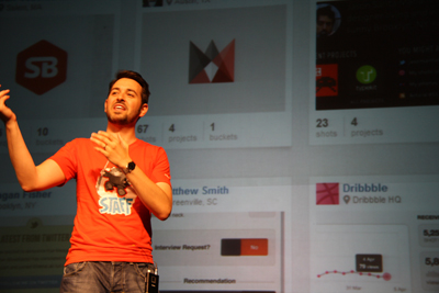 Rand Fishkin presenting at MozCon