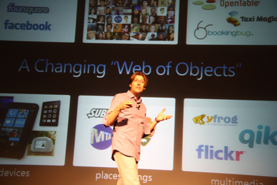Stefan Weitz from Bing passionately explaining the challenges search engines are facing