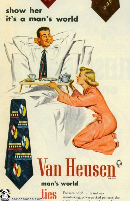 Chauvinist Van Heusen Vintage Ad: Man's World Power Ties