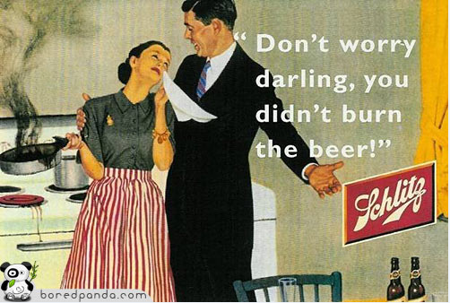 vintage beer ad for schlitz beer
