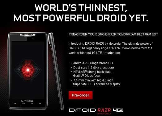 cell phone droid razr