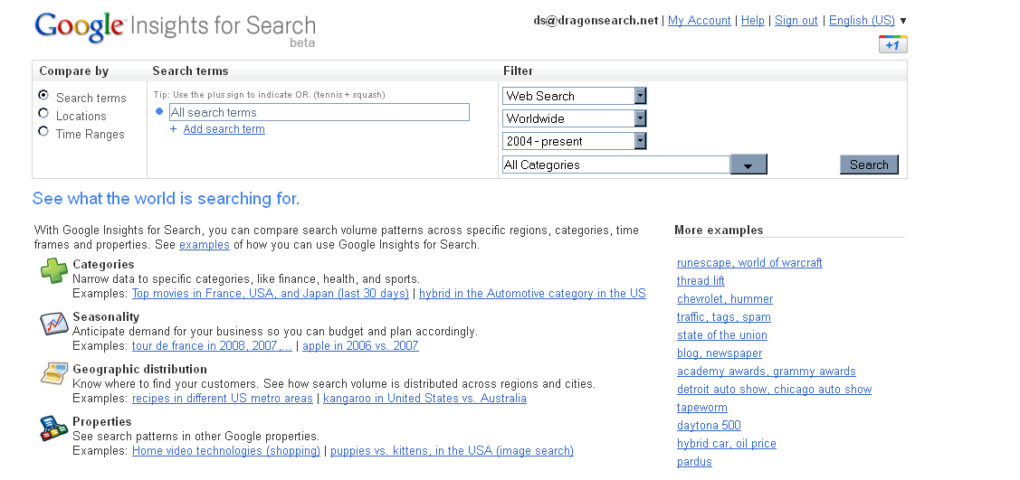 Use Google Insights For Search to deepen your keyword research.