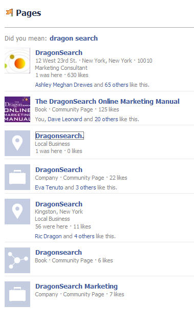 pages containing dragonsearch