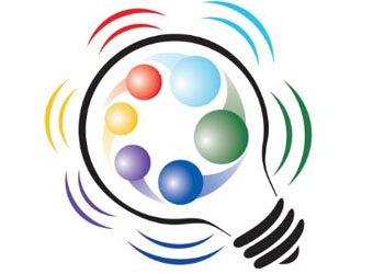 colorful lightbulb gravity summit logo