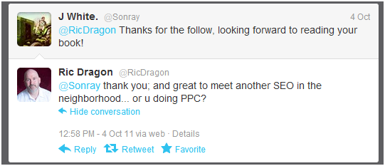 first tweet between rick dragon and jason white