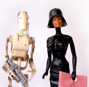 Darth Barbie and Storm Trooper