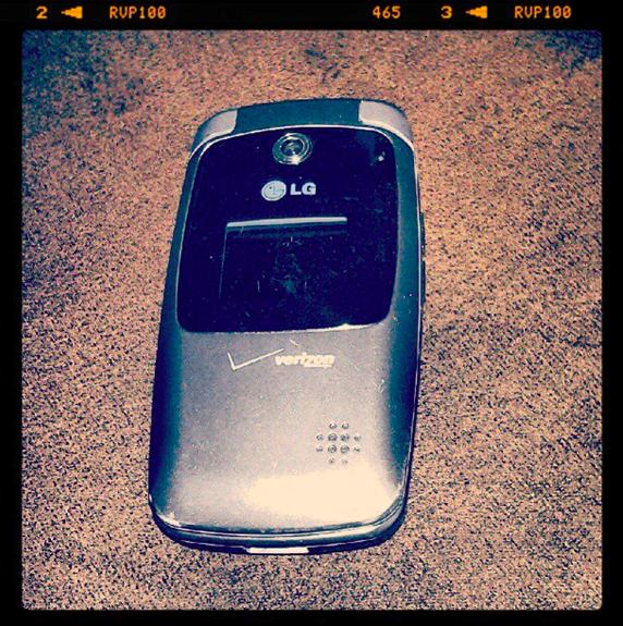 An old flip phone by LG for Verizon Wireless
