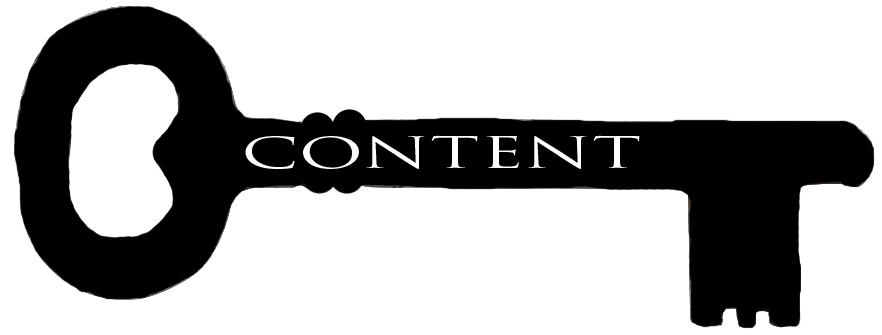 Image of a key with CONTENT written on it to make the point that having a digital marketing content plan in place is key to your success.