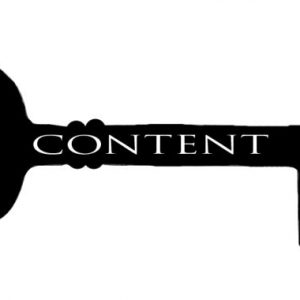 Key with CONTENT written on it - as in the key to your content marketing strategy