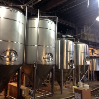 large brewing tanks for beer