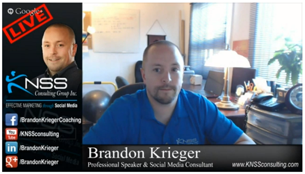 Example of a customized Google Hangout on Air Lower Third.