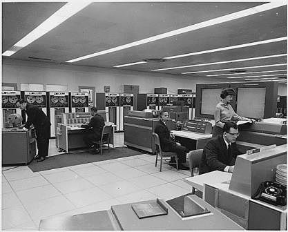 Workers in a technology office.