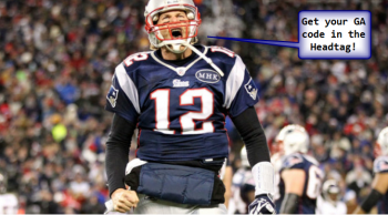 Tom Brady gets charged up about where a website puts its Analytics tracking code