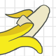 graphic of a peeled banana