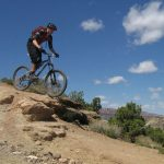 Chris Berkley mountain biking in Grand Junction