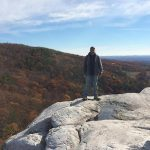 Evan Auerbach hiking in Upstate NY