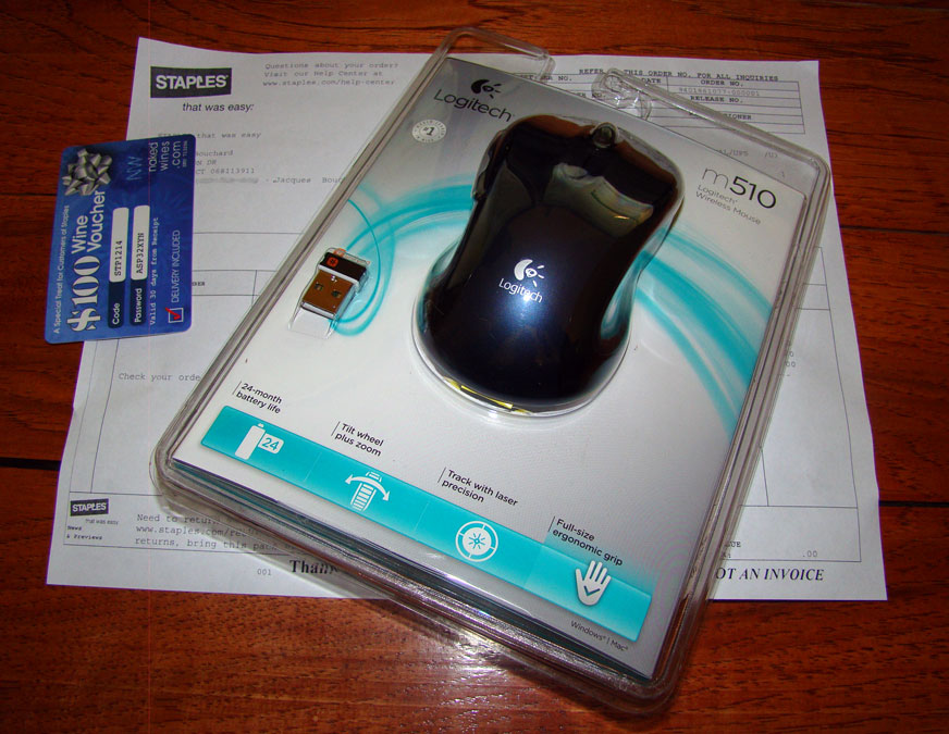 Replacement mouse from Staples as part of reputation management