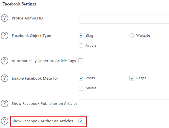 Facebook publisher markup all in one seo pack