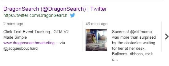 A screenshot showing image results for a Twitter SERP