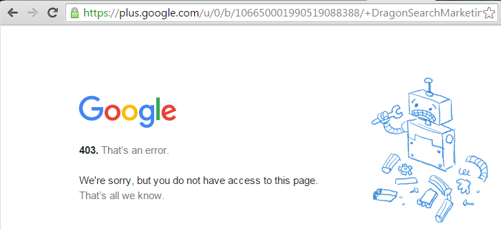 The long number version of a G+ URL that doesn't work if not logged in as that page.