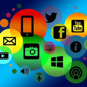 Social Media network icons.