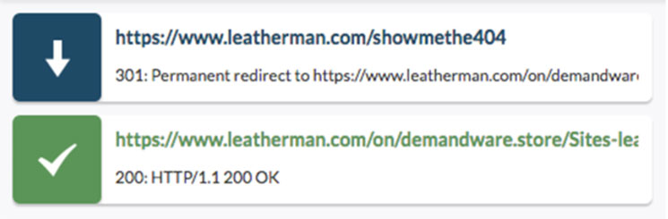 An example URL for a page on Demandware that 404s
