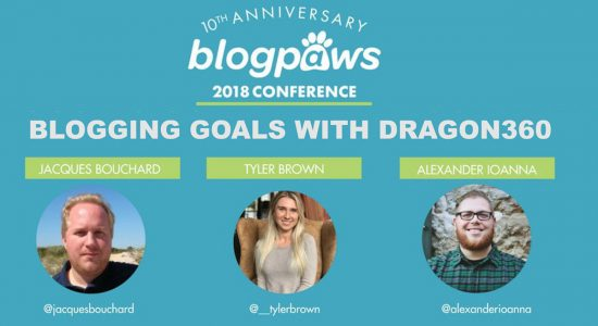 Announcement for Blogpaws Conference with 3 speakers from Dragon360